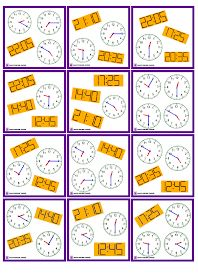 Zegar Dobble do druku Educational Youtube Channels, Math Tables, English Time, English Activities, Telling Time, Fun Learning, Board Games, Worksheets, Homeschool
