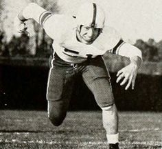 VINCE COSTELLO, BSED '53, linebacker. Standout Cleveland Browns linebacker. Photo from the 1953 Athena Yearbook.
