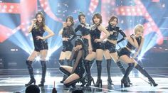 """AOA performed """"Like A Cat"""" with 7 members! Aoa Like A Cat, Aoa Elvis, Kwon Mina, Fnc Entertainment, Seolhyun, Sexy Latex, Stage Outfits, Ariana Grande, Kpop Girls"""