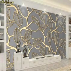 Custom Photo Wallpaper For Walls 3D Stereoscopic Golden Tree Leaves Living Room TV Background Wall Mural Creative Wall Paper 3D| | - AliExpress Custom Photo Wallpaper, Wall Decor, Home Wallpaper, Wall Art Wallpaper, Creative Walls, Modern Wall Decor, Creative Wall Art, Wallpaper House Design, Wall Wallpaper