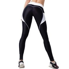Heart Booty Pattern Sexy Women Yoga Pants Fitness Gym Tights With Side Mesh Pocket Contrast Color Yoga Legging Running Trousers Yoga Leggings, Tight Leggings, Workout Leggings, Workout Pants, Leggings Are Not Pants, Yoga Pants, Waist Workout, Seamless Leggings, Black Leggings