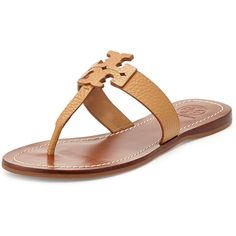 53e8b3faa0d160 Tory Burch Moore Leather Thong Sandal ( 145) ❤ liked on Polyvore featuring  shoes,