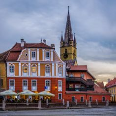 Sibiu by Dominique Toussaint on Beautiful World, Mansions, House Styles, Romania, Home Decor, Decoration Home, Manor Houses, Room Decor, Villas