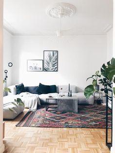 My Scandinavian Home: Hay Mags Sofa And Petit Friture Light In A Hamburg  Apartment (click Image For Full Tour!