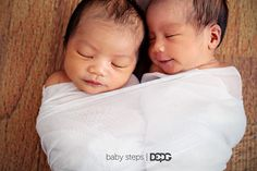 Newborn twins Eden & Elyse