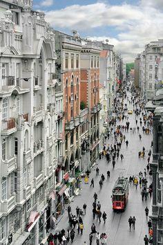 Istiklal Avenue, Istanbul, Turkey #streets