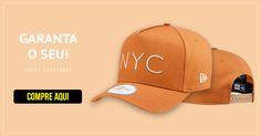Boné New Era Aba Curva NYC nas cores Azul Escuro e Bege a Pronta entrega com 774287d1058