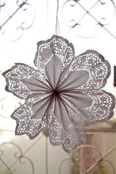 DIY doily pinwheels