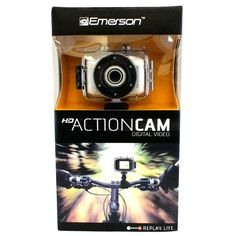 Hot New Release! Emerson Go Action Cam 720p HD Digital Video Camera Pro Grade 5 mp Video With Screen WHITE - http://www.belokitech.com/emerson-go-action-cam-720p-hd-digital-video-camera-pro-grade-5-mp-video-with-screen-white/
