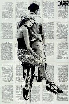 "Saatchi Art Artist Loui Jover; Drawing, ""the hitchhiker"" #art"