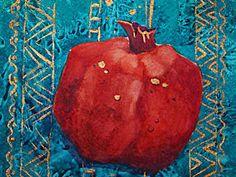 """Мастер-класс: рисуем гранат в технике акварель """"по-сухому"""" (итальянская акварель) - Avonafets - Ярмарка Мастеров http://www.livemaster.ru/topic/2031039-master-klass-risuem-granat-v-tehnike-akvarel-po-suhomu-italyanskaya-akvarel"""
