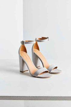 2d1b63fd2cf Thin Ankle Strap Heel Grey Strappy Heels