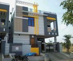 Ideas Exterior Paint Ideas House India For 2019 Exterior Wall Design, Exterior Paint Colors For House, Paint Colors For Home, Exterior Colors, House Elevation, Front Elevation, Building Elevation, House Paint Color Combination, Independent House