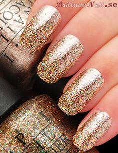 New Year Mani: Glitter Fading  OPI Designer De Better + OPI Bring on The Bling