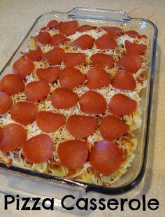 Pizza Casserole - The Colbert Clan