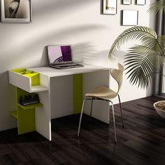 Elenora Çalışma Masası - Beyaz Verde - 1