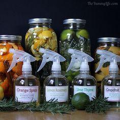 DIY Naturally Scented All-Purpose Citrus Vinegar Cleaners.