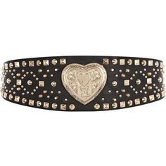 River Island Black studded heart waist belt ($13) ❤ liked on Polyvore featuring accessories, belts, jewelry, sale, studded waist belt, river island, waist belt and studded belt
