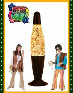 """Large Silver Glitter Lamp Halloween Decor Party Light by BlockBusterCostumes. $9.97. Size information: 12"""" Height. This posting includes: Silver Glitter Lamp as featured. Brand new great quality Glittering Groovy Glitter Lamp. Great finishing touch for any Glittering theme. Glitter lamps consists of an illuminating bulb, a glass bottle containing a transparent liquid, glimmering beads, and a metallic wire coil. When illuminated the beats heat and cool more quickly than the su..."""