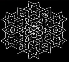 Kolam and Rangoli: September 2009 Rangoli Kolam Designs, Rangoli Ideas, Rangoli Designs With Dots, Rangoli Designs Images, Kolam Rangoli, Flower Rangoli, Rangoli With Dots, Beautiful Rangoli Designs, Simple Rangoli