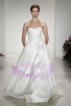 Wedding Dresses For Older Brides Sweetheart Neckline A Line Vintage Wedding Dress 2015 Bridal Gowns With Side Pocket Elegant Satin Wedding Dresses Best Wedding Dresses From Prettycolor, $146.6| Dhgate.Com