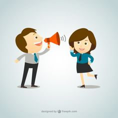 Businessman shouting through megaphone Free Vector