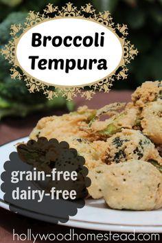 Paleo Broccoli Tempura
