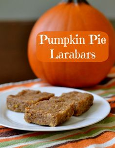 This pumpkin pie Larabars copycat recipe is a healthy, energy-boosting snack that tastes like dessert. Protein bars like this will help you get to the next meal. Whole 30 Recipes, Raw Food Recipes, Snack Recipes, Cooking Recipes, Yummy Recipes, Diet Recipes, Vegetarian Recipes, Healthy Recipes, Lunch Snacks