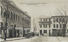 Washington Avenue  in Logan WV postcard image.