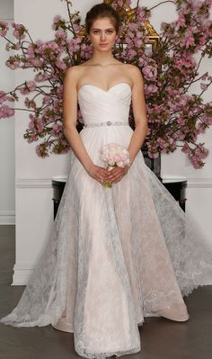 Aline Wedding Dresses Legends by Romona Keveza Spring 2017 strapless blush wedding dress with lace ivory overlay and beaded belt - You have to see these classic bridal styles from Romona Keveza Legends for spring Spring 2017 Wedding Dresses, Wedding Dress Styles, Dream Wedding Dresses, Bridal Dresses, Dresses Dresses, Spring Wedding, Dresses Online, Romona Keveza Wedding Dresses, Wedding Gown Gallery