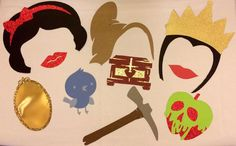 Snow White Photo Booth Props