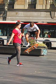 Skater Universitat Barcelona