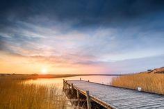 Frieden am Fjord (Jütland / Dänemark), Dämmerung, Dänemark, Fjord, Nordsee, Nymindegab, Ringkøbing, Schilf, Sonnenuntergang, Steg, Wolken