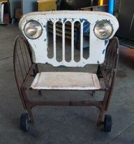 upcycle.  little jeep love seat - Patrick Amiot Urban Furniture