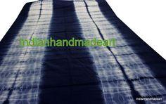 5 Yard Shibori Print Indigo Blue Cotton Fabric Indian Handmade Tie Dye Fabric #KhushiHandicraft