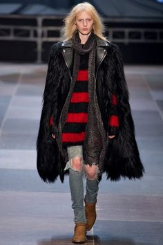 ブランドファッション通信: 最後までエディスリマン主役のサンローランパリコレクション2013-2014A/W