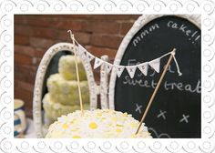 Mr And Mrs Cake Bunting Cake Topper