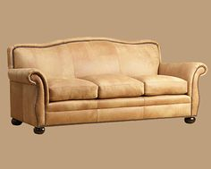 Bonanza Leather Sofa: look at this fabulous buttery color!