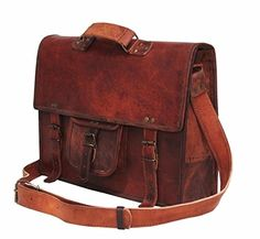 c88cb500b9 Handolederco vintage leather briefcase shoulder messenger laptop bag for  men and women s -