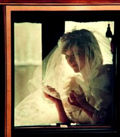 One of the most beautiful pictures of Diana on her wedding day.