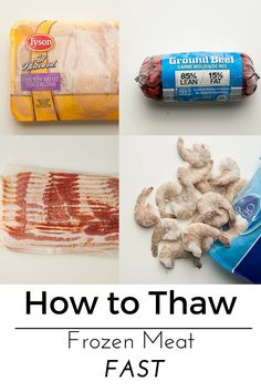 Just discovered that your dinner chicken or hamburger is frozen solid? Use this easy method on how to thaw frozen meat fast.