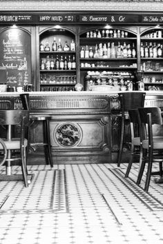 #paris cafe in black and white