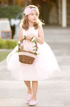 Adorable glower girl|Handmade Pink and Mint Wedding|Photo by: Amy & Jordan Photography on Glamour and Grace via Lover.ly Weddings