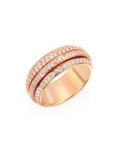 Piaget - Possession Diamond & 18K Rose Gold Ring