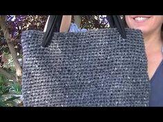 COMO HACER UN BOLSO FACIL DE CROCHET DE PUNTO BAJO EN GANCHILLO//single crochet stitch bag - YouTube