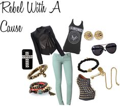 """Rebel With A Cause"" by sandrsdutchess on Polyvore"