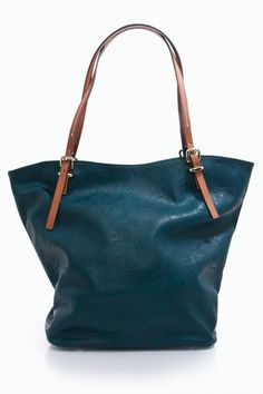 faux leather, perry tote.