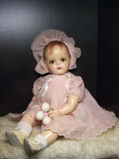 "Massive 28"" Composition Cloth Ideal Doll Miracle 34th Street Huge Compo Doll 