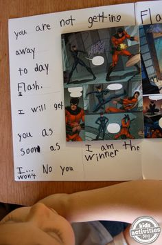 Free Comic Books - Using Comics and Costumes to Encourage Literacy - Kids… Writing Area, Kids Writing, Creative Writing, Writing A Book, Writing Station, Superhero Writing, Superhero Classroom, Superhero Ideas, Super Hero Activities