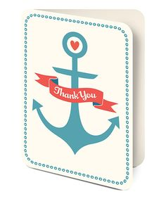 Another great find on #zulily! Nautical 'Thank You' Notecard Set by Studio Oh! #zulilyfinds